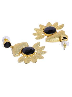 Black Holy Flower Earring
