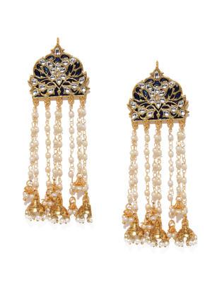 Gold-Toned & Blue Classic Blue Teheni Drop Earrings