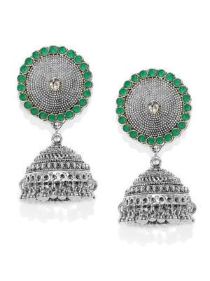 Green Shield Earring
