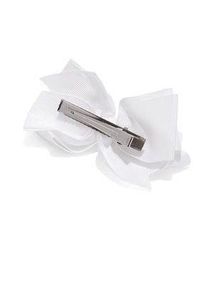 White Big Bow Hairclips