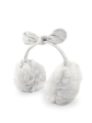 ToniQ White Fluffy Fur Ear Muffs