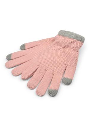ToniQ Women Pretty Pink Winter Crochet Knit Gloves