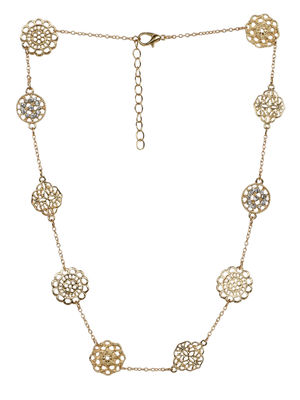 Toniq Beautiful Floral Design Necklace For Wome