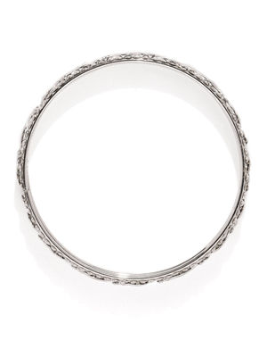 Set Of 12 Silver-Toned Twist of Vine Bangles