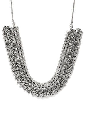 Women Silver-Toned Lotus Necklace