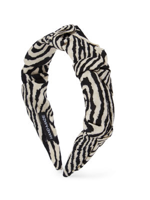 Hand Made Zebra printed Ruffled Hair Band For Women