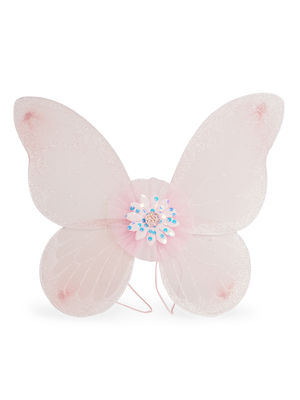 Toniq Kids Party Dress UP Pink Butterfly Wings & Wand Set For Girls