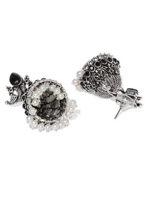 Silver Peacock Earring