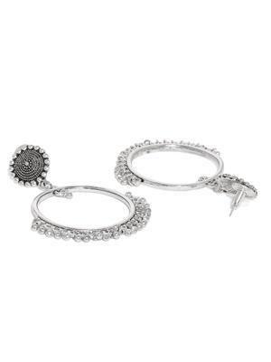 Silver Circular Drop Earring
