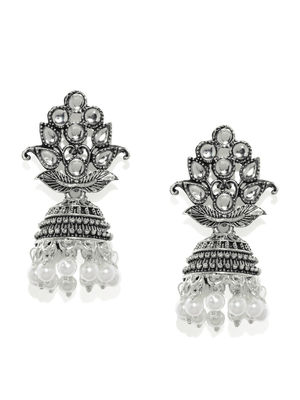 Silver Leaft Dome Earring