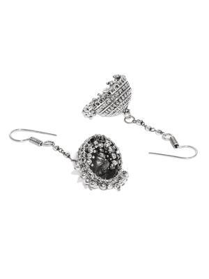 Silver Dome Jhumki Earring