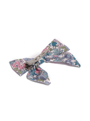 Girls Blue Bow Shaped Alligator Hair Clip