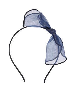 Black and Navy Blue Embellished Hairband