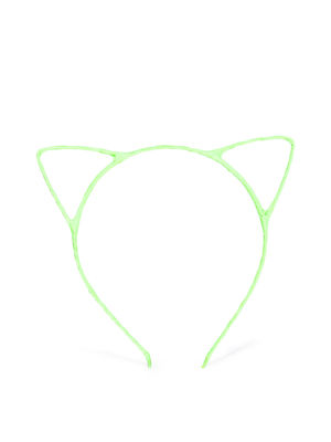 Girls Fluorescent Green Cat Ear Hairband