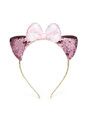 Gold-Toned and Pink Embellished Hairband