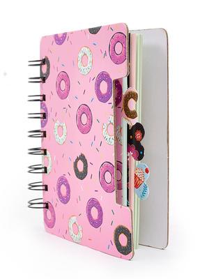 Pink Sweet Treat Donut Pattern Spiral Notebook
