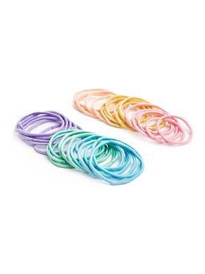 ToniQ Kids Set Of 36 Pretty Pastel Rubber Band For Girls