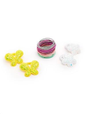 ToniQ Kids Set of 34  Rubber Band  & Flower Rubber Band Combo Pack For Girls
