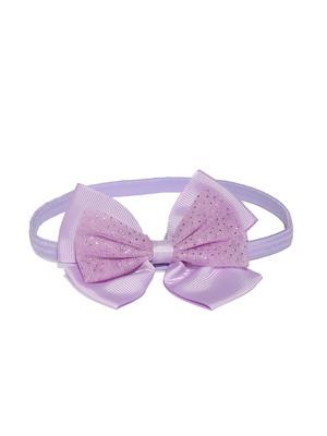 Pink & Purple Bow Clip Set