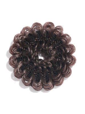 Brown Frilly Rubber Band