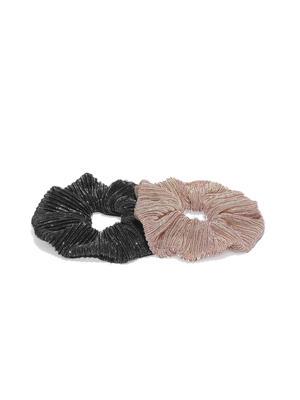 Pink & Maroon Scrunchies