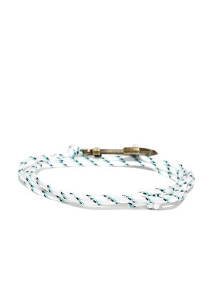 Men White Patterned Wrap-Around Bracelet