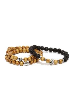 Men Set of 2 Beaded Bracelets
