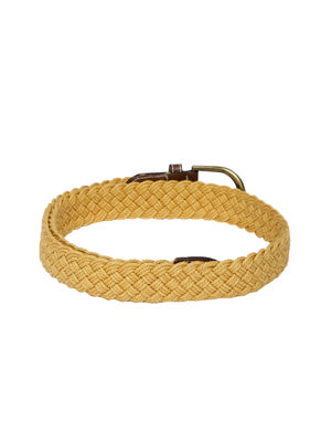Men Mustard Yellow Braided Belt