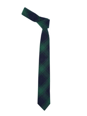 Green & Navy Checked Tie