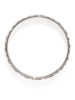 Set Of 12 Silver-Toned Twist of Vine Bangles