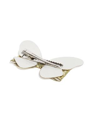 Bow-Shaped Embellished Alligator Hair Clip