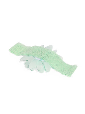 Girls Mint Green Floral Hair Band