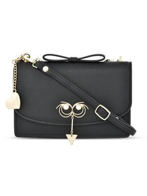 Funny Face Black Sling Bag