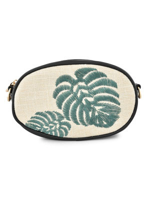 Parardise Palm Embroidered Sling Bag