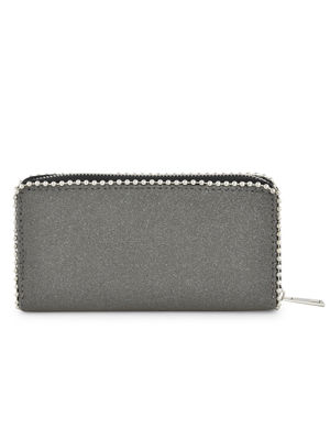 Black Zip Around Wallet For Women