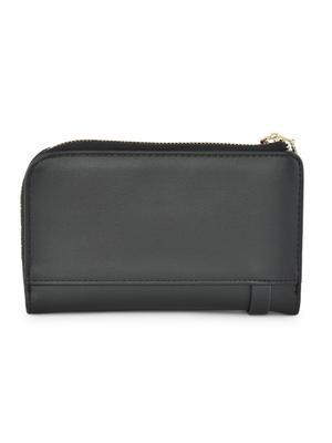 Black Floral Detailed Wallet For Women