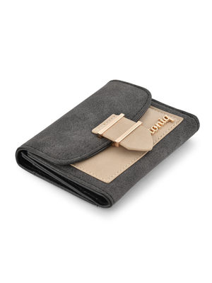Two Tone Front Flop Wallet For Women