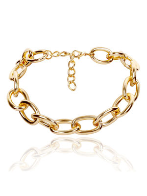 ToniQ Lets Link Gold Chain Statement Choker Necklace For Women