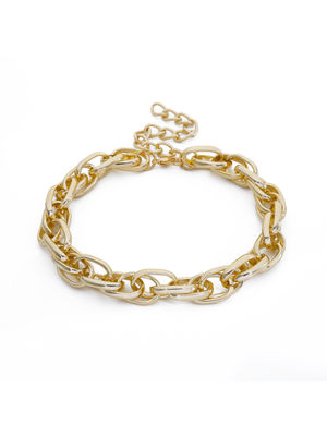 ToniQ Gigi Chain Link Gold Statement Choker Necklace For Women