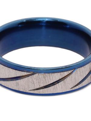 Men Navy Blue Finger Ring