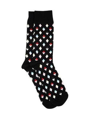 Men Multicoloured Patterned Above Ankle Length Socks