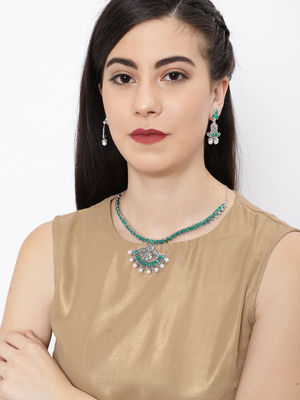 Ethnic Indian Traditional Silver Nagina Necklace for women