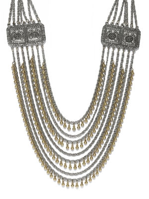 Ethnic Indian Traditional Two Tone Layer Necklace for women