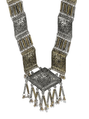 Ethnic Indian Traditional Two Tone Tribal Necklace for women