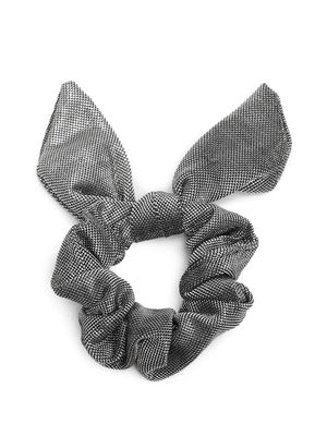 Trendy Knotted Bow Gun Metal Scrunchie For Women