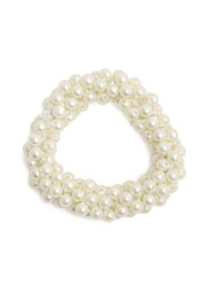 White Pearl Rubber Band For Women