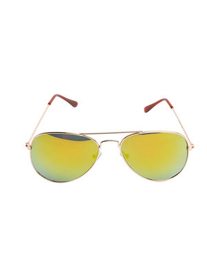 Kids Gold Avaitor Sun Glasses