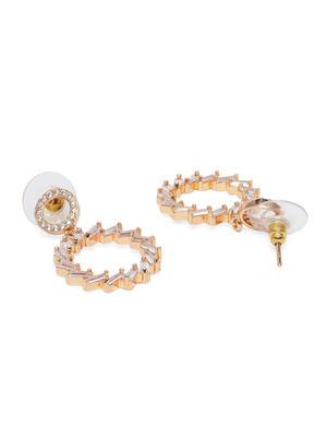 Rose Gold Geometric Drop Earrings
