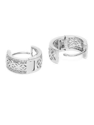 Silver-Toned Circular Hoop Earrings