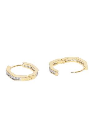 Gold-Toned & Silver-Toned Circular Hoop Earrings